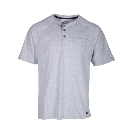 Men's Short Sleeve Raglan Henley Pocket -