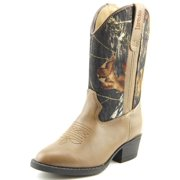 Laredo LC3403 Toddler  Round Toe Leather Brown Western Boot