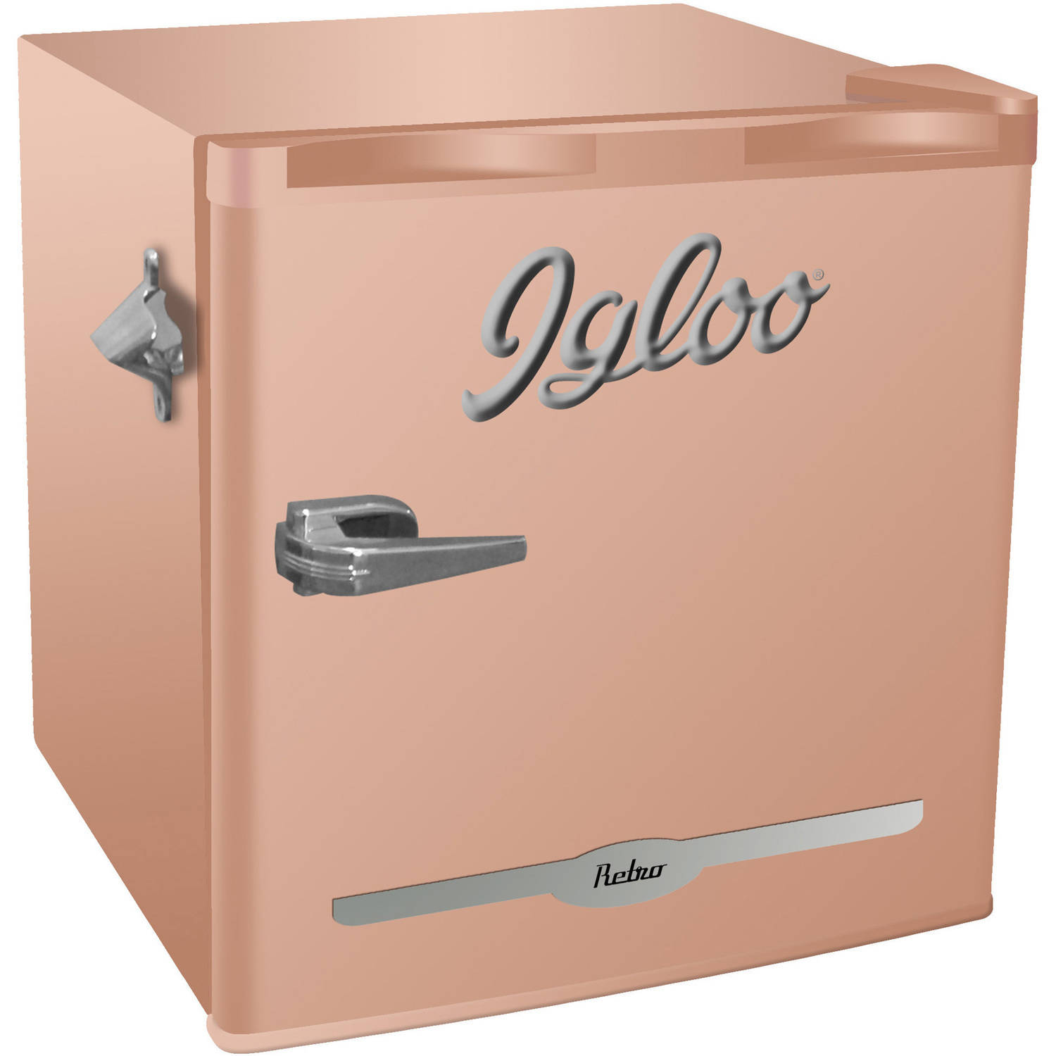 Igloo 1.6 Cu Ft Retro Bar Fridge With Side Bottle Opener, Multiple Colors