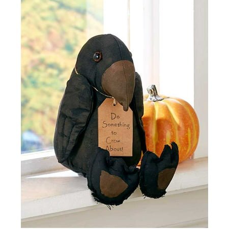 Primitive Halloween Decor Crow Witch Hat Witch Boots (1, Crow Shelf Sitter) for $<!---->