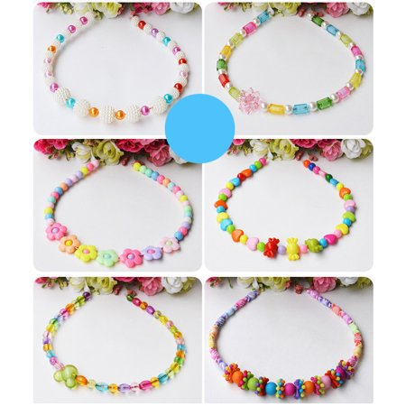 Educational Toy Colorful Acrylic Beads DIY Children Beaded Toys Handmade Beaded for Kids Color:Crystal heart - image 5 of 6