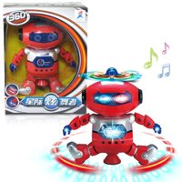 Outtop Electronic Walking Dancing Smart Space Robot Astronaut Kids Music Light Toys