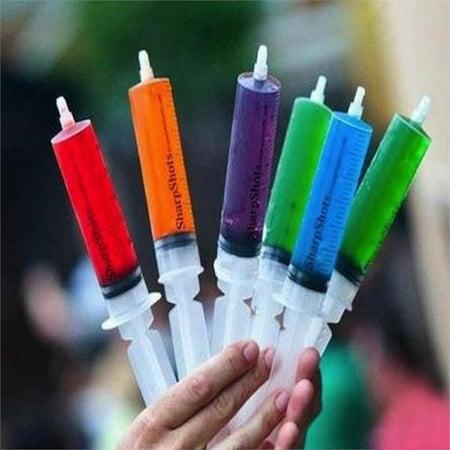 BalsaCircle 24 pcs 1.5 oz Clear Plastic Jello Shots Syringes - Disposable Catering Tableware - Jello Shot Syringes Halloween