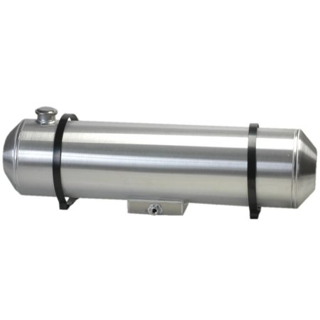 0824Ef   Spun Aluminum Gas Tank End Fill 5 5 Gallons With Sump For Fuel Injection