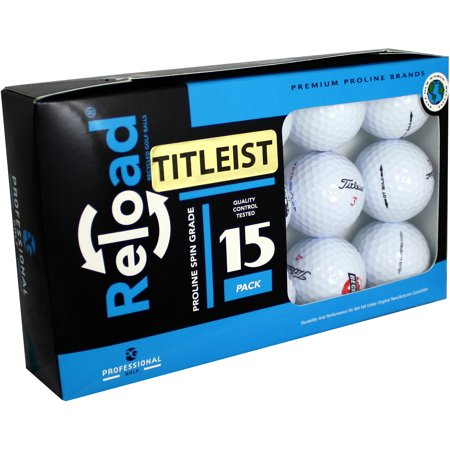 Reload Titleist Golf Balls, Used, 15 Pack