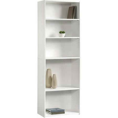 sauder beginnings 5 shelf bookcase soft white. Black Bedroom Furniture Sets. Home Design Ideas