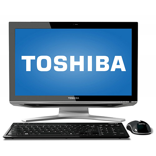 """Toshiba Black Refurbished DX1215-D2101 All-In-One Desktop PC with Intel Core i5-2410M Processor, 4GB Memory, 21.5"""" Monitor, 1TB Hard Drive and Windows 7 Home Premium"""