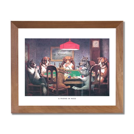 Dogs Playing Poker At Table #1 A Friend In Need Coolidge Picture -