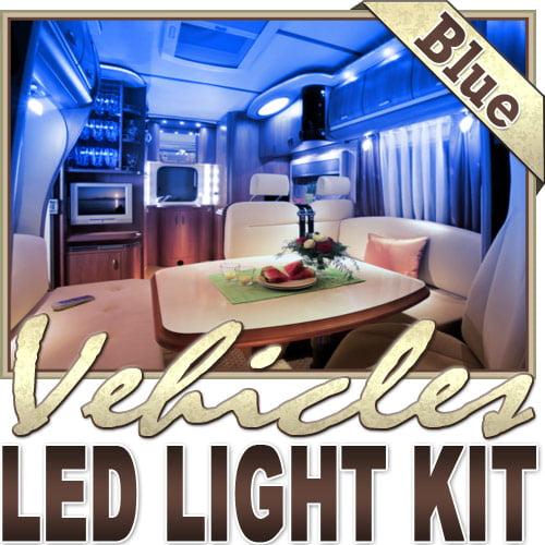 Biltek�� 16.4' ft Blue Motorhome RV Night Light Remote Controlled LED Strip Lighting SMD3528 Wall Plug - Motorhome Boat Cabin Yacht Lighting, Compartment Lighting, Interior Waterproof DIY 110V-220V