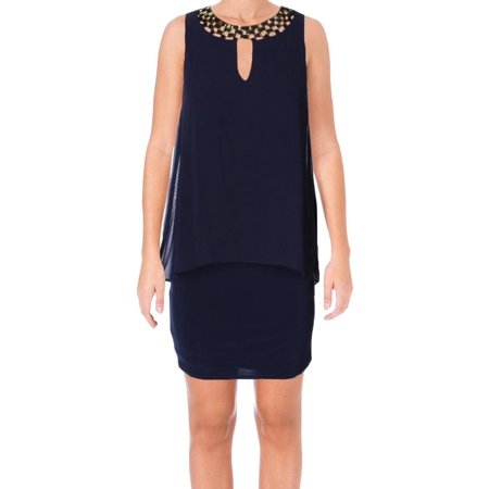 Laundry By Shelli Segal NEW Blue Womens Size 0 Popover Sheath
