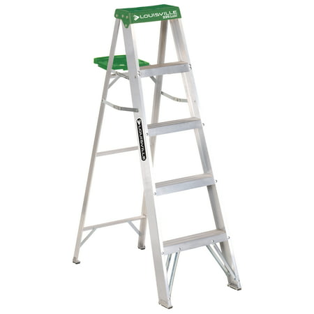 Louisville Ladder AS4005 5 ft. Aluminum Step Ladder, Type II, 225 lbs Load Capacity