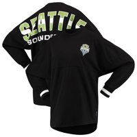 Seattle Sounders FC Fanatics Branded Women's Cuffed Spirit Jersey Long Sleeve T-Shirt- Black