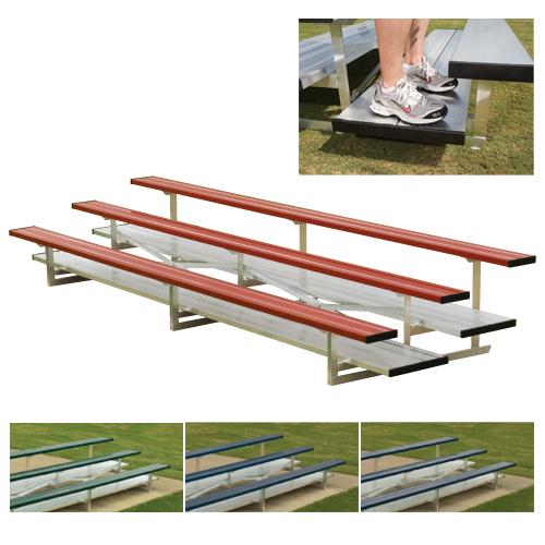 3-Row Powder Coated Bleachers (Red) by Athletic Connection