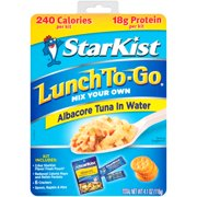 (3 Pack) StarKist Lunch To-Go, Albacore Tuna in Water, 4.1 Ounce Box