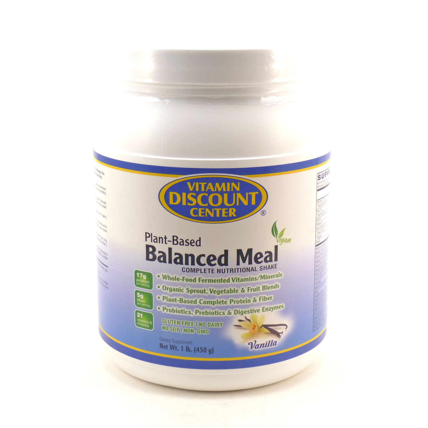 Balanced Plant Based Meal Vanilla by Vitamin Discount Center 1 Pound by