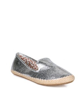 5c2751dd896a Product Image Nature Breeze Slip On Women s Espadrille Flats in Silver