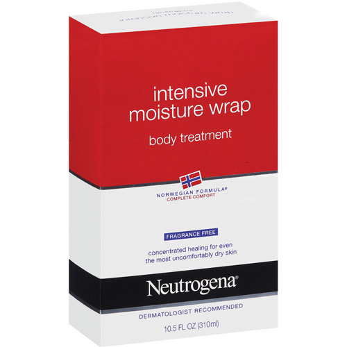 Neutrogena Norwegian Formula Fragrance Free Intensive Moisture Wrap Body Treatment, 10.5 fl oz