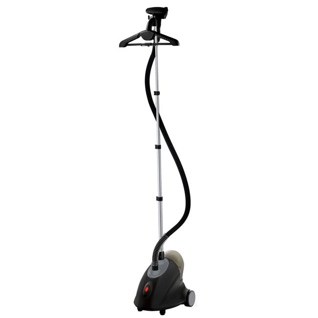 GS18-DJ-120 Black White Performance Series Garment Steamer with Folding Hanger