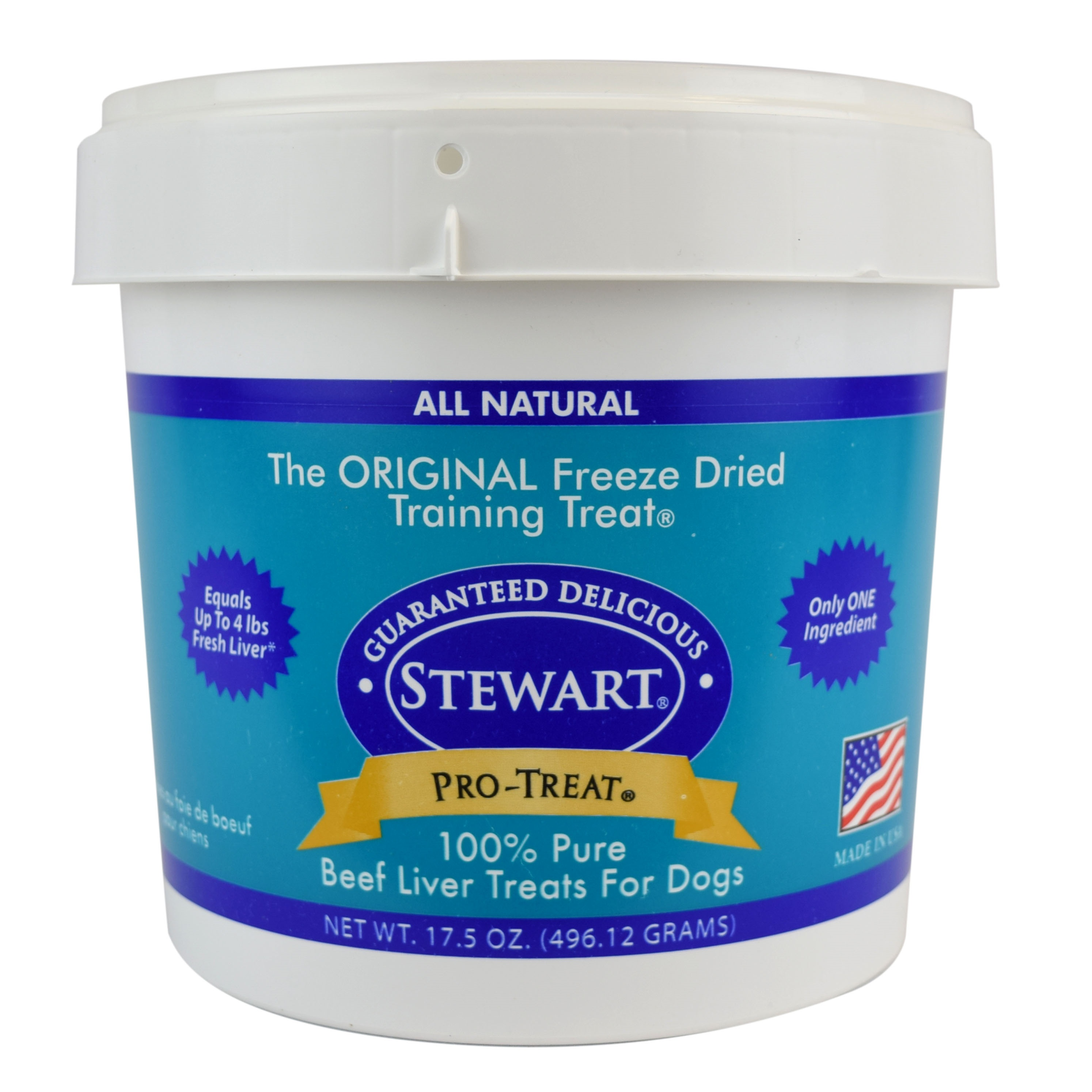 Stewart Freeze Dried Beef Liver by Pro-Treat, 17.5 oz. Tub