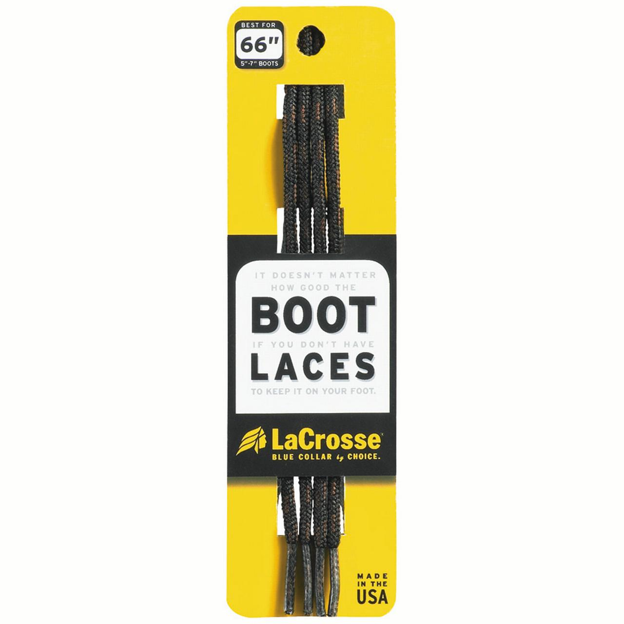LaCrosse Boot Laces Black Brown 76 in. by LACROSSE