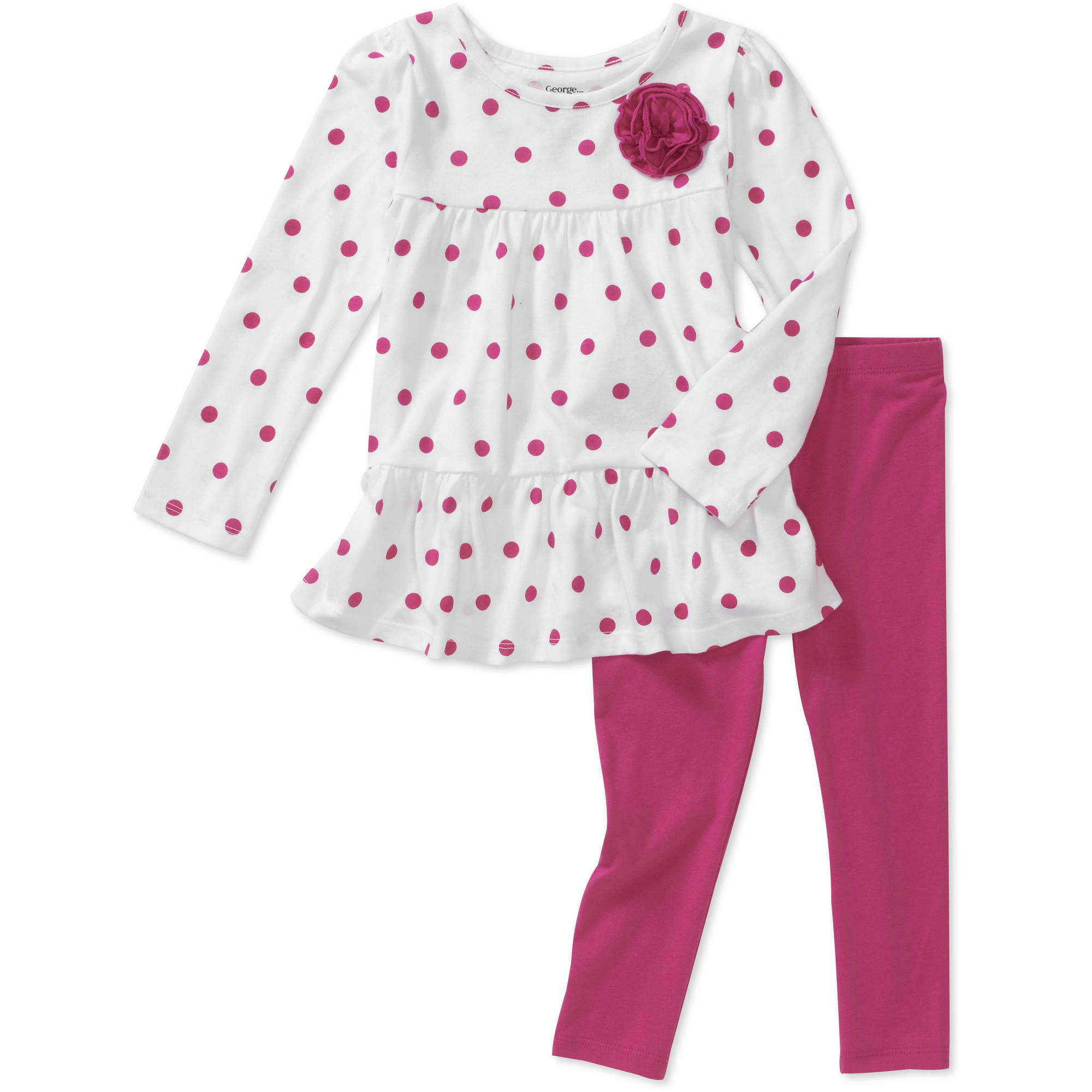 George Baby Girls' 2-piece Dot Top And L