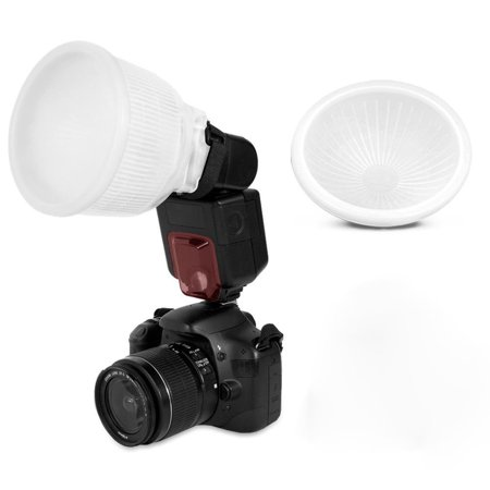 Millionaccessories Universal Cloud lambency flash diffuser + White dome cover and fits all