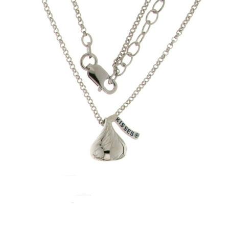 - Hershey Kiss  Mini Pendant Sterling Silver w/18