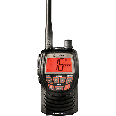 Cobra MR HH125 VHF-HH, 3 Watt, Black