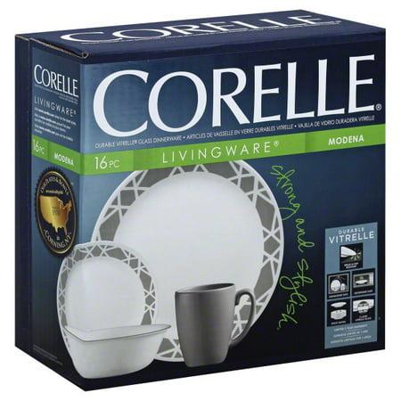 Corelle Livingware 16 Piece Modena Dinnerware Set, 1 set (Cheap Corelle Dinnerware)