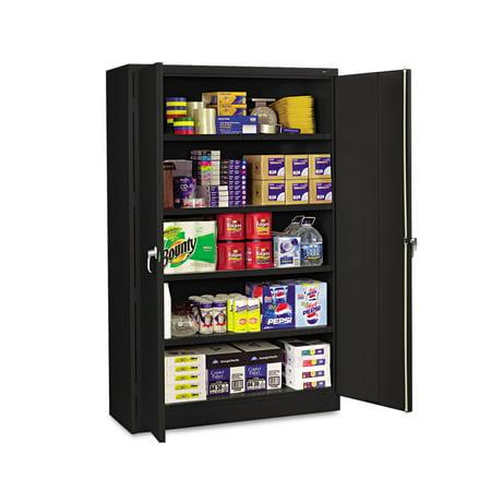 - Tennsco Assembled Jumbo Steel Storage Cabinet, 48w x 18d x 78h, Black
