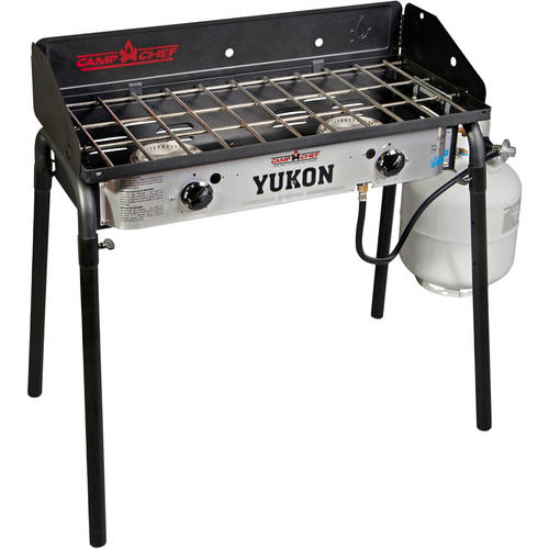 "Yukon 60,000 BTU Two Burner Stove 14"" Modular Cooking Accessories Collection"