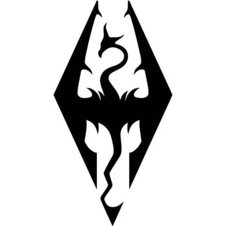 Skyrim Imperial Symbol Logo Die Cut Vinyl Decal Sticker Black | 5.5-Inches