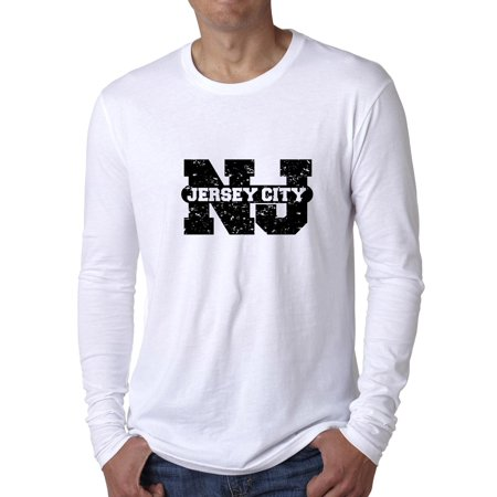 Jersey City, New Jersey  NJ Classic City State Sign Men's Long Sleeve