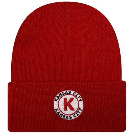 City Hunter Sk901 Kansas City Football City Name Patch Skull Cuffed Beanie Hat