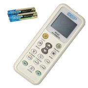 HQRP Universal Remote Control for BLACK AND DECKER BWE15A BWE18A BWE25A BWH08A BWH12A BWH18A BWR08A AC-5620-69 BWE05A BWE06A BWE08A BWE10A BWE12A BWR06A Air Conditioner