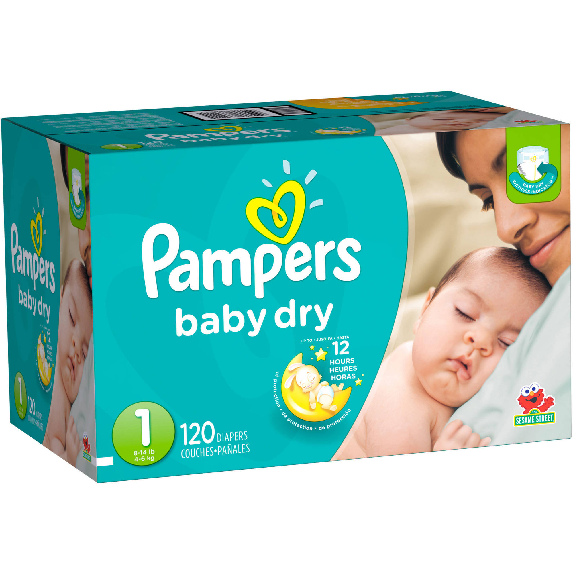 Pampers Baby Dry Diapers, Super Pack (Choose Your Size)