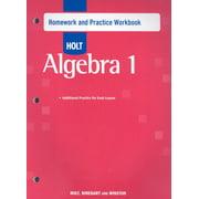 Holt Algebra 1: Holt Algebra 1: Homework Practice Workbook (Paperback)
