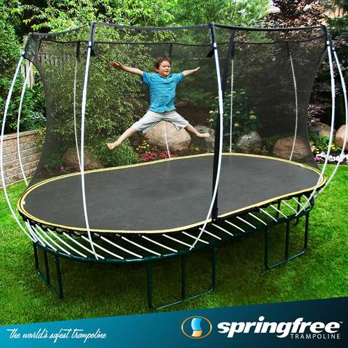Springfree 8 X 13 Oval Trampoline Box 3 Walmart Com