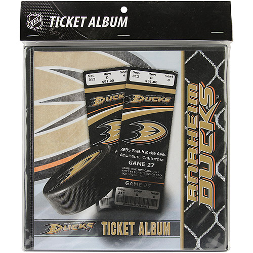 That's My Ticket NHL Ticket Album, 8-1/4 inch x 8-3/4, Anaheim Ducks