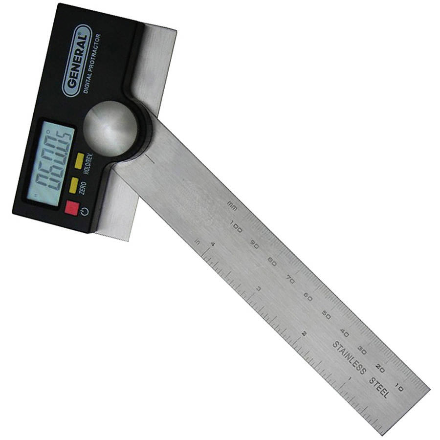 "General 1702 6"" Stainless Steel Pivoting Arm Digital Protractor by General"