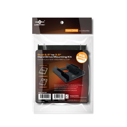 Vantec 169622 Accessory Hda-252p Dual 2.5inch To 3.5inch Sata Hard Drive Mounting Kit Retail