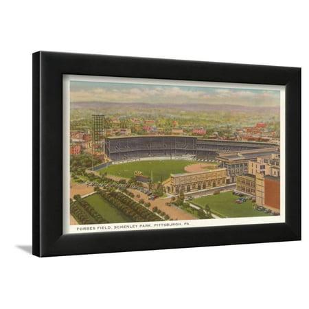 Lambeau Field Framed - Forbes Field, Pittsburgh, Pennsylvania Framed Print Wall Art