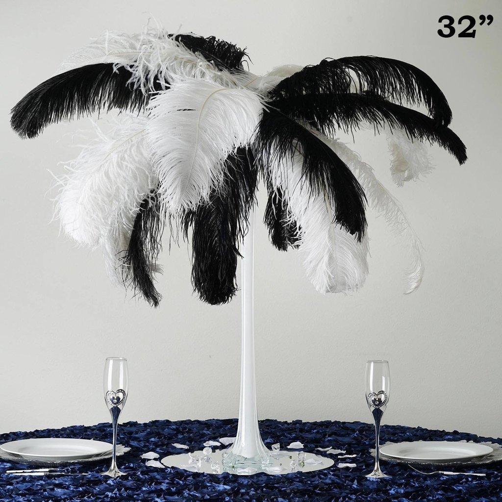 "BalsaCircle 6 pcs 32"" tall Wedding Centerpiece Eiffel Tower Vases - Wedding Party Centerpieces Wholesale Home Decorations"
