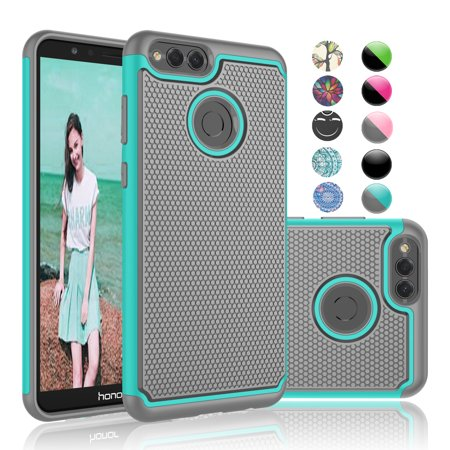 buy popular 6ce13 6f028 Honor 7X Case, Huawei Honor 7X Phone Case, Njjex [Shock Absorption] Drop  Protection Hybrid Dual Layer Armor Defender Protective Case Cover For  Huawei ...