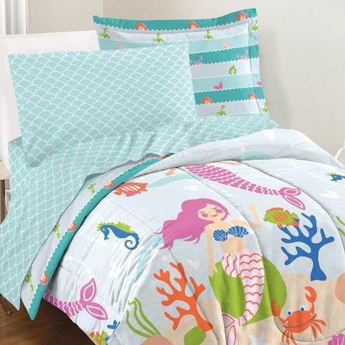 Zoomie Kids Hallam Mermaid Dreams 3 Piece Comforter Set