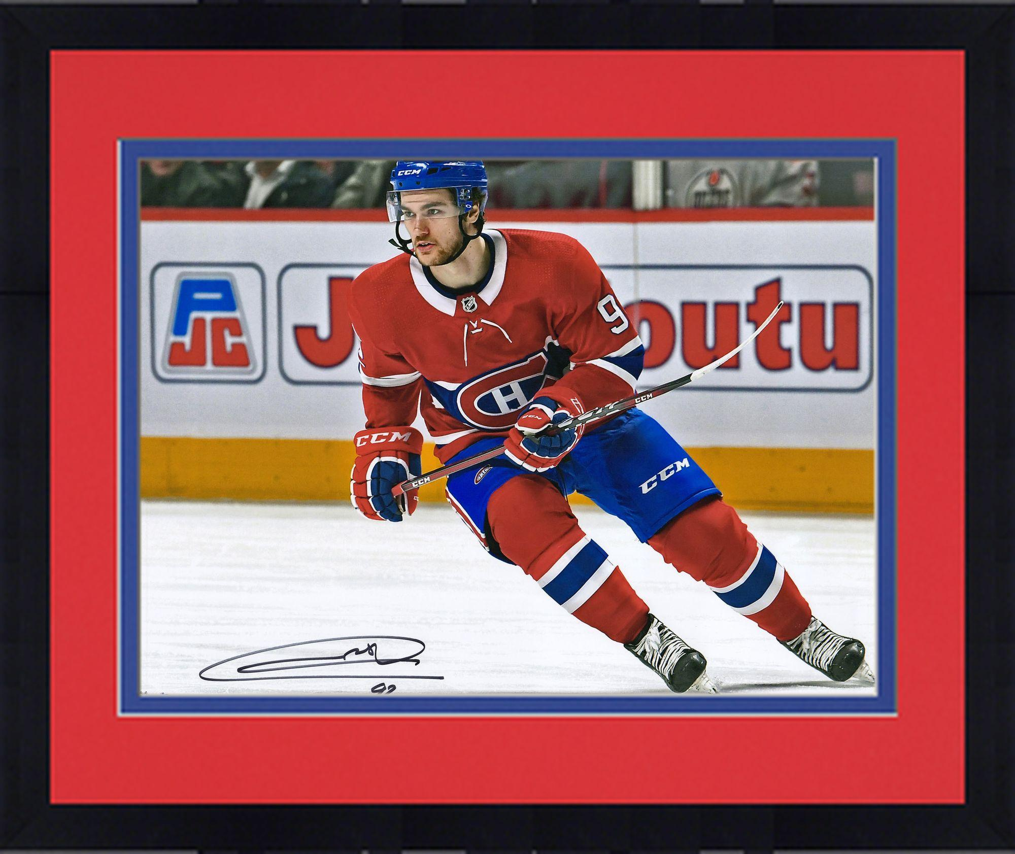"Framed Jonathan Drouin Montreal Canadiens Autographed 16"" x 20"" Red Jersey Skating Photograph Fanatics... by Fanatics Authentic"