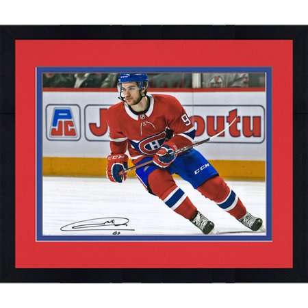 Framed Jonathan Drouin Montreal Canadiens Autographed 16   X 20   Red Jersey Skating Photograph   Fanatics Authentic Certified