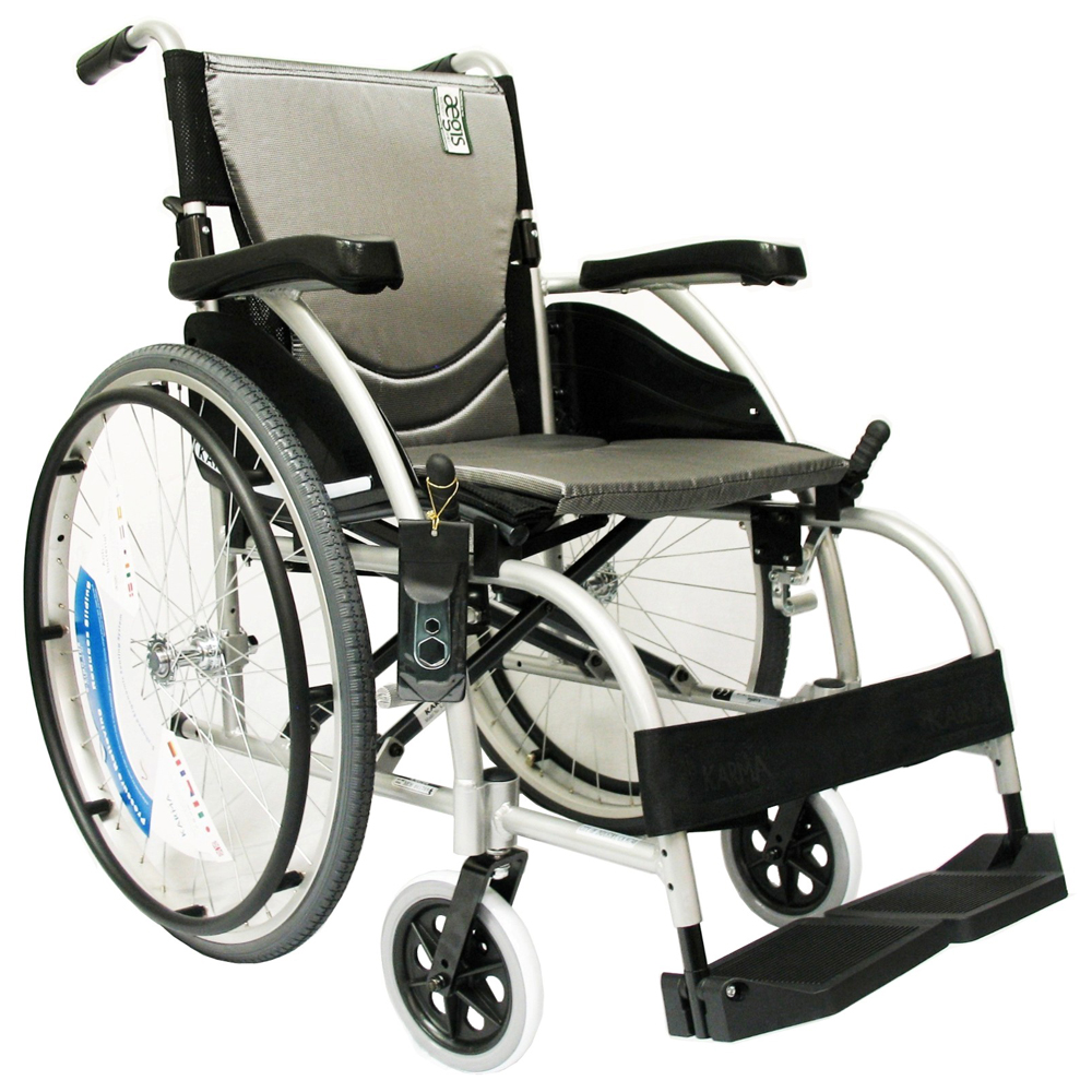 Karman Healthcare S-105 Ergonomic Ultra Lightweight Manual Wheelchair, Pearl Silver