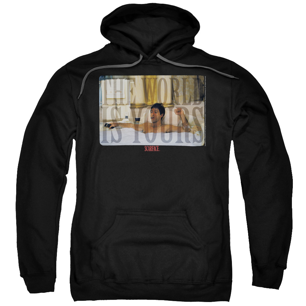 Scarface/Bathtub Adult Pull Over Hoodie Black  Uni1002