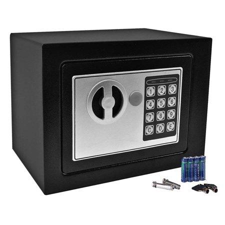 NEW Small Black Digital Electronic Safe Box Keypad Lock Home Office Hotel Gun By Super buy